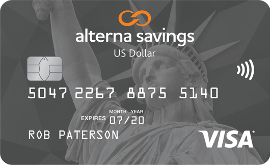 US Dollar VISA Card