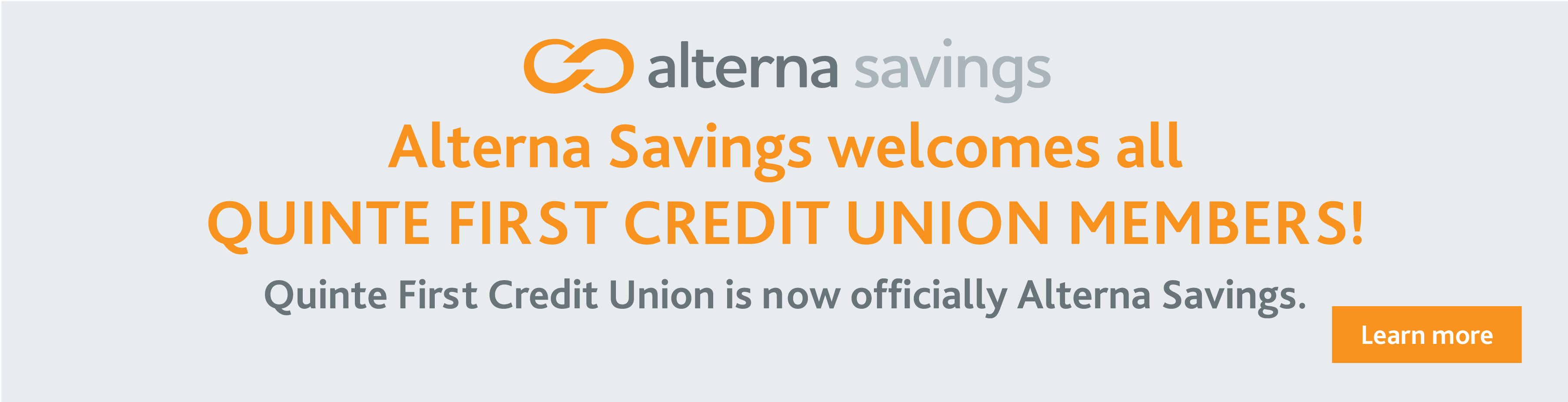 Quinte First is now Alterna Savings