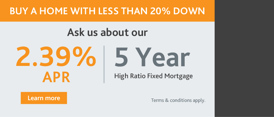 5 Year High Ratio Fixed Mortgage
